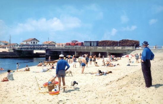 1 mimizan plage train vfl en 1955