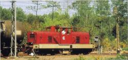 15 bb 01 manoeuvrant en gare de laluque sncf mai 1992