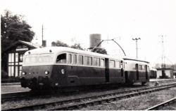 Autorail De Dion-Bouton type OR n°A1 et remorque R1 (Labouheyre août 1952)