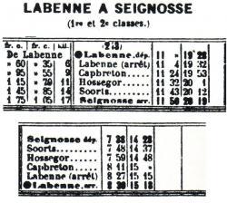 4 labenne seignosse horaires ete 1914