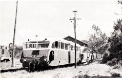 7 mimizan plage depot autorail de dion bouton type or aout 1960