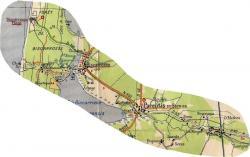 Ychoux biscarrosse plage carte de la ligne